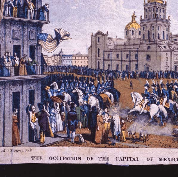 The occupation of the capital of Mexico by the american army (Ocupación de la ciudad de México por el ejército estadounidense), Daval, 1847, AAS.