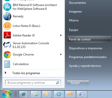 "- Windows Vista/7/8 o Paso1: (Windows Vista/7) Acceda al ""Panel de Control de Windows""."
