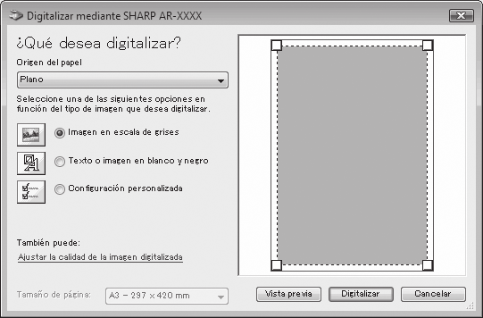 Escaneado desde una aplicación compatible con WIA (Windows XP/Vista/7) Si utiliza Windows XP/Vista/7, con el controlador de WIA podrá escanear desde aplicaciones compatibles con WIA.