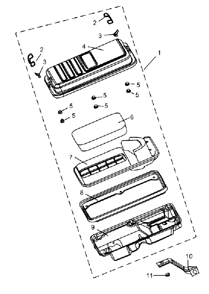 PARTS LIST AND DIAGRAMS Intake Assembly NO. PART NO. DESCRIPTION QTY 1 QJ182FPH-15.04B AIR CLEANER ASSEMBLY 1 (COMLETE) 2 QJ182QDP.11-6 FIXUP CLIP I 2 3 QJ182QDP.11-7 FIXUP CLIP II 2 4 QJ182FPH-15.