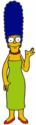 "Favourite Sayings: ""Suck, suck"" PRESENT SIMPLE TENSE Name: Marge Bouvier Simpson Age: 34 Occupation: _ Past Careers: Policewoman, actress, substitute _, real estate agent, and worker at power plant."