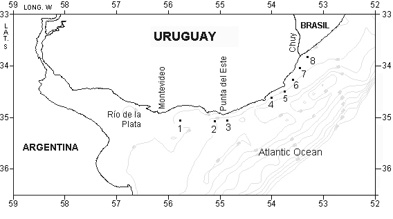 146 PIANA, M. G.; FERRARI, G. al. 1999). The external region is an estuarine zone characterized by a wide frontal zone with both turbidity and salinity fronts (Framiñan & Brown, 1996; Nagy et al.