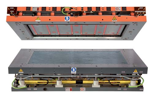 SFS - Upper forming die set SFS - Stampo a formatura superiore SFS - Molde de moldeo superior The SFS mould is true machine, with a high technological content and allows to tile to be handled without