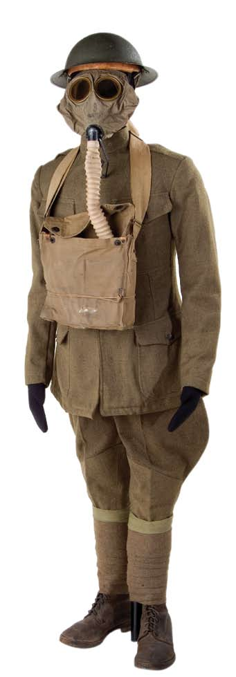 World War I uniform including gas mask, National Museum of American History David Barkley Cantú was born 1899 near Laredo, Texas, at Fort McIntosh, where his father was stationed, but grew up in San