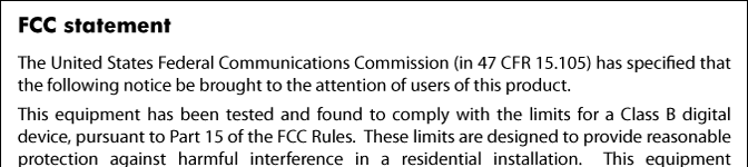 FCC statement Notice to users in Korea VCCI (Class B) compliance