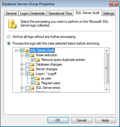 Captura de pantalla 54: Configurar auditoría de SQL Server en la ficha SQL Server Audit 6.