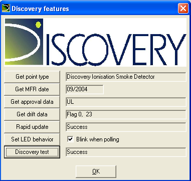 Discovery test: Discovery devices include an internal test procedure. To run the Discovery test: 1.