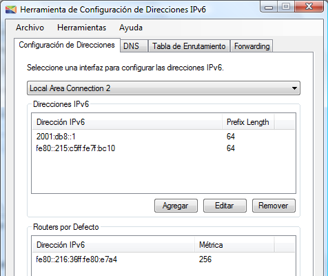 Pruebas Figura 10.19: Interfaz Local Area Connection del router D.
