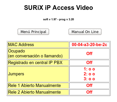 Clave login de ip Access en IP PBX Es la clave con la que el ip Access se registra en la central IP PBX, si se requiere su registración.
