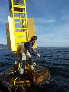 Observaciones in-situ Environmental DATA: wind, temperature, humidity, solar radiation, sea temperature and salinity at different levels, currents, as well as oxygen
