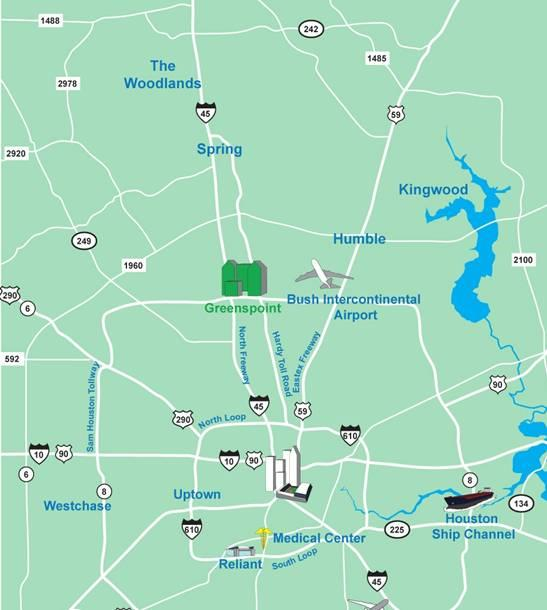 Strategically Positioned All Within 30 Minutes The Woodlands Destination Miles Min Downtown 13 19 Intercontinental Airport