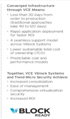 We're providing our mutual customers and channel partners with the ability to leverage their Trend Micro and VCE investments