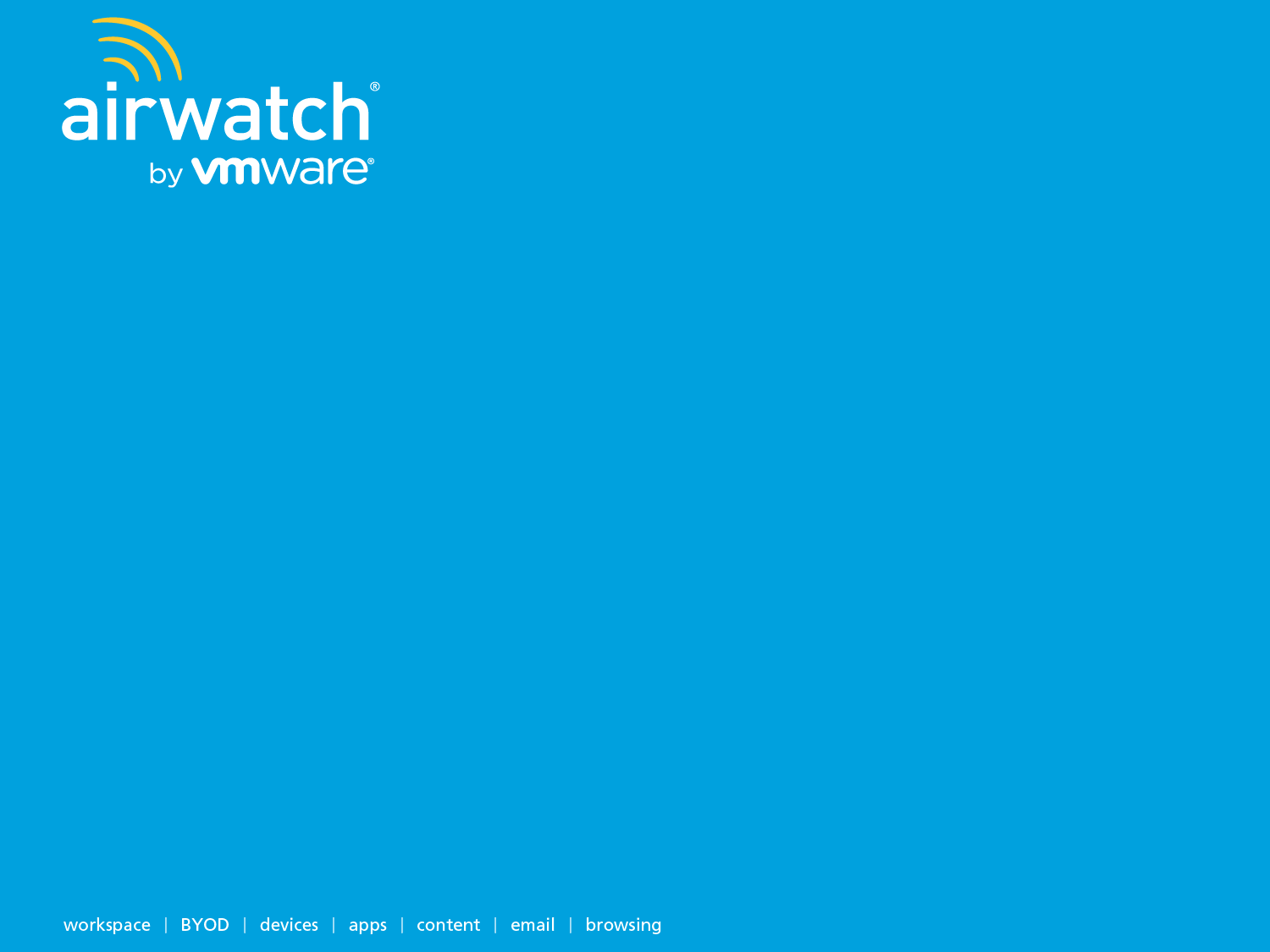 Introducción a Airwatch por