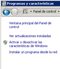 1. INSTALACIÓN COMPONENTES WINDOWS 1.1 Configuración IIS (Internet Information Services) En plataformas de Windows 2008 generalmente se va a instalar IIS7, ya que Windows lo trae por default.