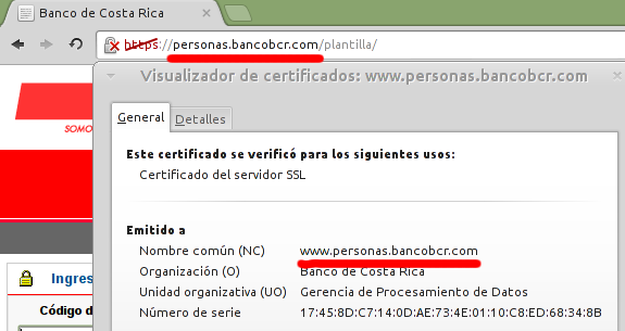 Verificando el Common Name