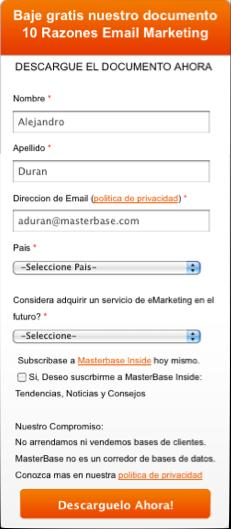 Landing Page Formulario MARKETING