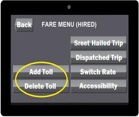 *El cambi de tarifa (SWITCH RATE) manual dentr de ls límites de la ciudad n está permitid. ALERT! Yur metered fare has been Increased t reflect an Out-f-twn rate.