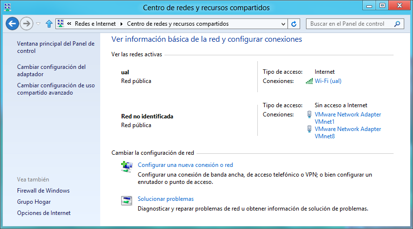 88 WINDOWS 8 Figura 6-1. Panel de control: Redes e Internet.