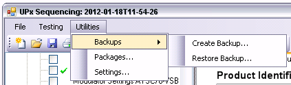 "Manual Operation Creating Backup Copies Clicking the ""Delete..."" button completely removes (following a query) the selected test sequence from the data store. All temporary files, e.g. hard copies which the test package has created for this test sequence, are also removed."