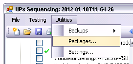 "Manual Operation Management of Loaded Test Packages The ""Archive temp files older than."
