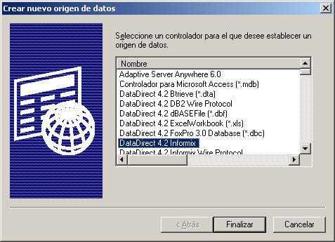 Seleccionar DataDirect 4.