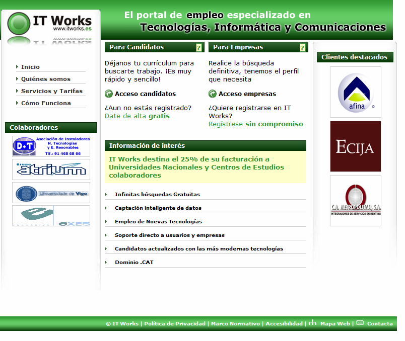 Casos de éxito IT Works Investing On Technology, S.L. (itworks.