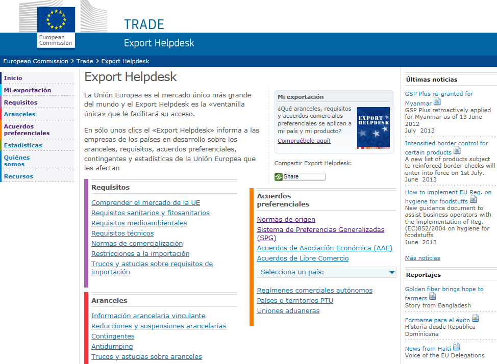 Export Helpdesk de
