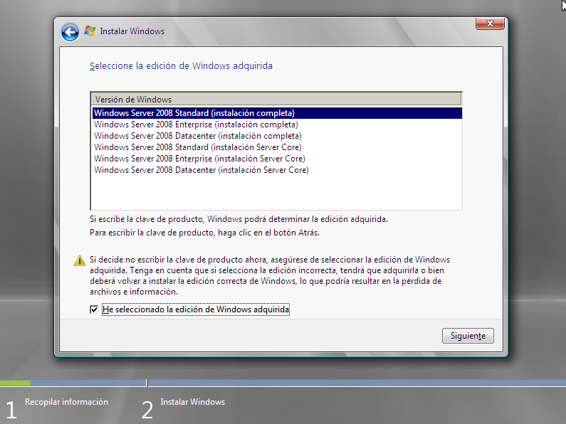 Windows server 2008 viene en diferentes versiones o