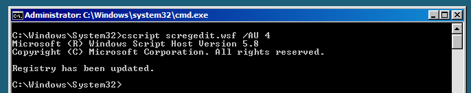CORE Instalación Manual INSTALACION WINDOWS UPDATE Verificar Configuración de Windows Update - cscript scregedit.