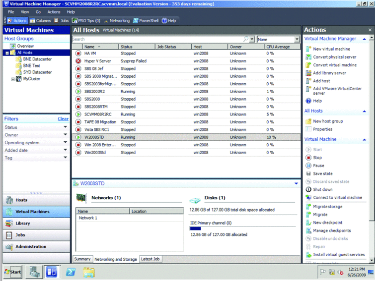 SYSTEM CENTER VIRTUAL MACHINE