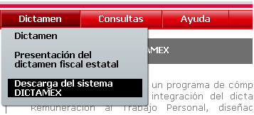 mx/portal/web/public/home Ingresar al menú Dictamen Submenú Descarga del sistema