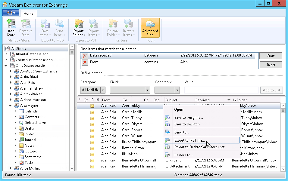 Veeam Explorer for