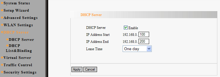 Capítulo 7 Servidor DHCP (DHCP Server) 7.