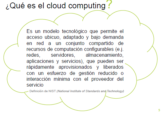 DEFINICIÓN CLOUD