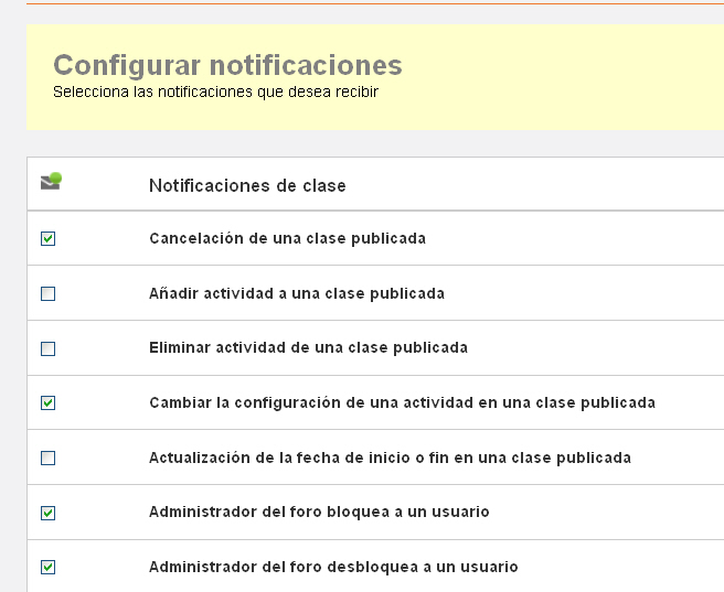 Configurar notificaciones.
