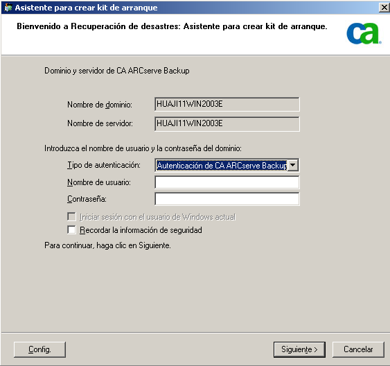Métodos de recuperación de desastres en Windows Server 2003 y Windows XP Método de cinta de arranque (OBDR) para Windows Server 2003 El método de cinta de arranque para Windows Server 2003 permite