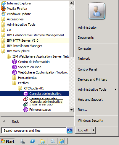 Configuración de WebSphere Application Server Antes de poder desplegar archivos war de aplicaciones CLM, debe configurar su WebSphere Application Server. Para ello, debe seguir la siguiente Secuencia.
