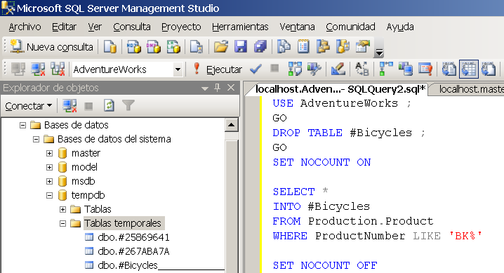 SQL 107 WHERE ProductCategoryID = (Select ProductCategoryID FROM dbo.productcategory Where ProductCategoryName = Kite ) 5.