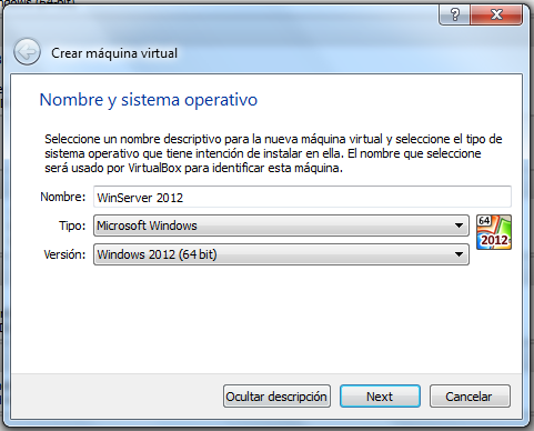INV- SharePoint 2013/2013-II Instalación de Software Crear máquina virtual, instalar alguno de los dos sistemas operativos Windows Server 2008 R2 o Windows Server 2012.