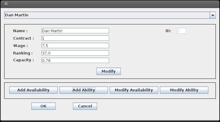 Add Employee Add Ability Employee menu Modify Employee In this menu the user can modify the data of the employee.