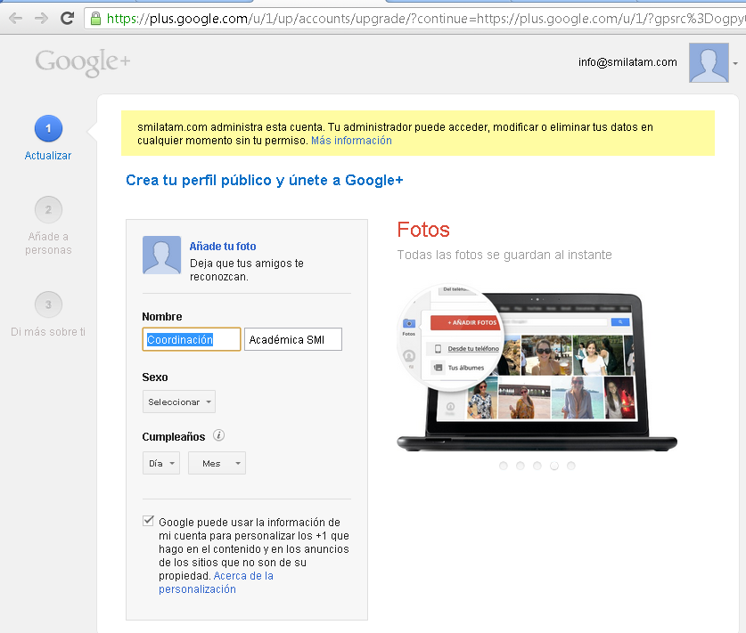 más relevantes de Google Plus: https://www.youtube.com/watch?