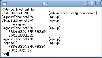 Figura 7.9: interfaces configuradas con IPv4 en R4 Figura 7.