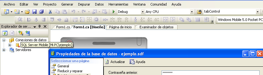 Protección de datos en BD 13 SQL CE private void OpenDatabase(string dbname, string password) { //