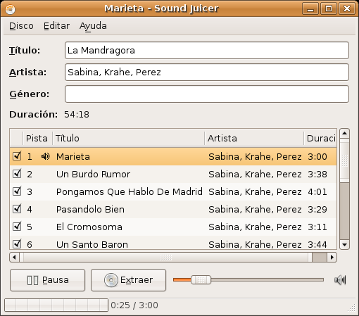 gstreamer0.10-plugins-bad gstreamer0.10-plugins-bad-multiverse gstreamer0.10-ffmpeg Audio Reproducir y extraer pistas de CDs de audio Cuando Ud.