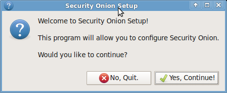 Sistemas Linux Security Onion Capítulo 2 Figura 2.3. Bienvenida a Security Onion.
