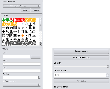 (a) Picture options dialog Tabla 98: (b) General options dialog Print composer image item tab -Picture options and General options General de diálogo de opciones El diálogo Opciones generales de la