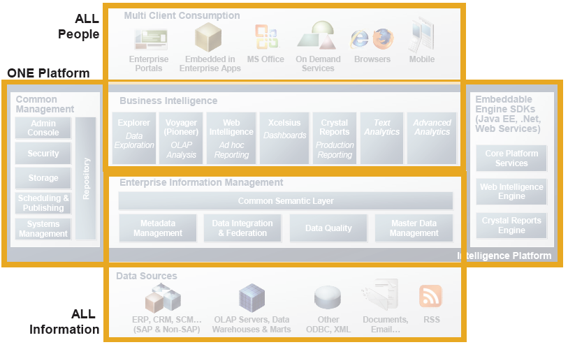 Soluciones SAP BusinessObjects BI y EIM Toda la