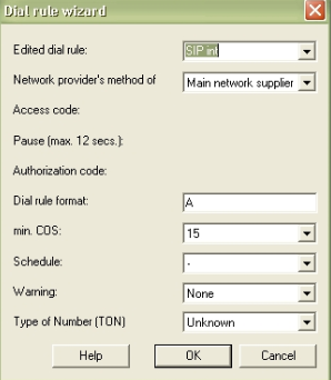 Se elige Route table y se hace click en Dial rule wizard.