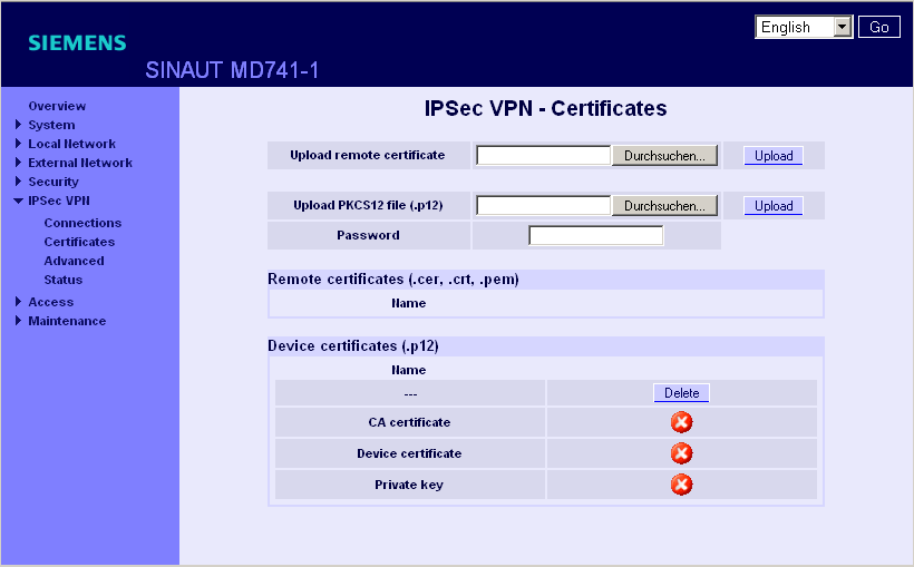 7 Conexiones VPN Enable dead peer detection (habilitar Dead Peer Detection) DPD - delay (seconds) (retardo de DPD en segundos) DPD - timeout (seconds) (timeout de DPD en segundos) DPD - maximum