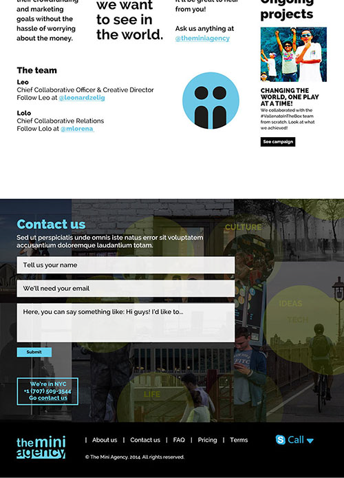 CLIENT: THE MINI AGENCY PROJECT: Website ROLE: User Experience